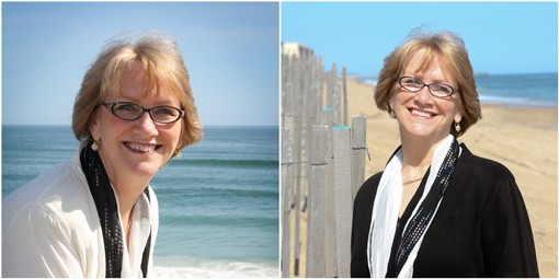 Wedding officiant Barbara Mulford on the OBX beaches