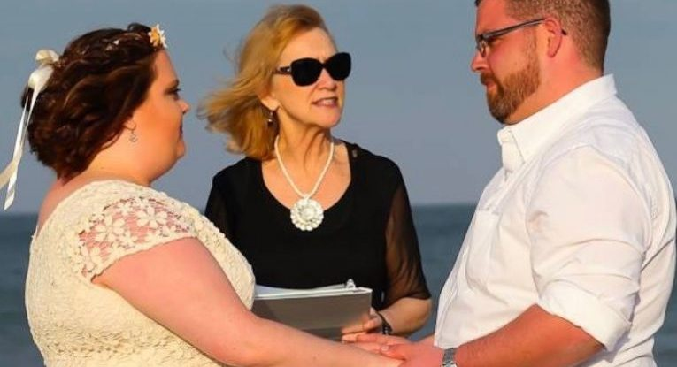 Jim-Melissa-Outer-Banks-Wedding-Minister-Barbara-Mulford